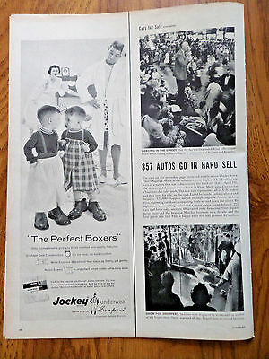 1958 Jockey Underwear by Coopers Ad  The Perfect Boxers