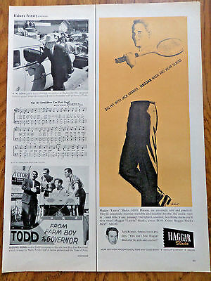 1958 Haggar Slacks Ad  Jack Kramer Tennis Player