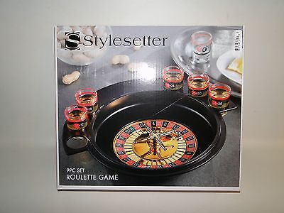 Roulette Drinking Game Shot Glasses College Party Game Night, 6 Shot Glasses