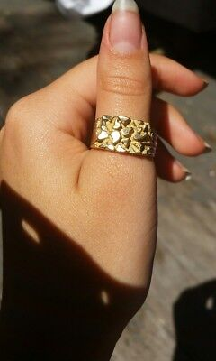 10k gold Ring Mens Womens Unisex 417 solid 10ct 10 carat