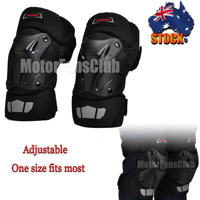 Adjustable Sport Racing Motor Bike Knee Pads Protective Gear Guard Riding SCOYCO