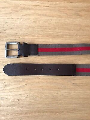 Trenery Men's Leather / Cotton Belt - Size 38""