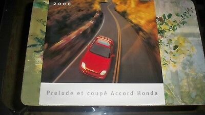 2000 HONDA PRELUDE ACCORD COUPE  BROCHURE written in french