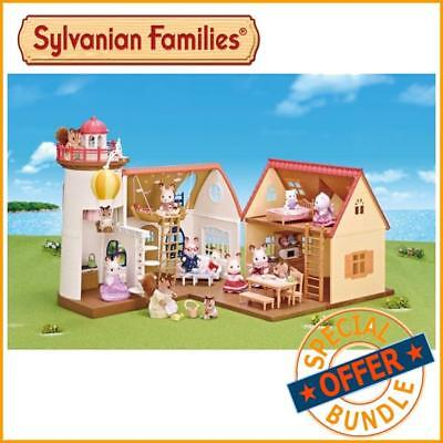 Package Deal - Sylvanian Families - Starry Point Lighthouse and Cosy Cottage