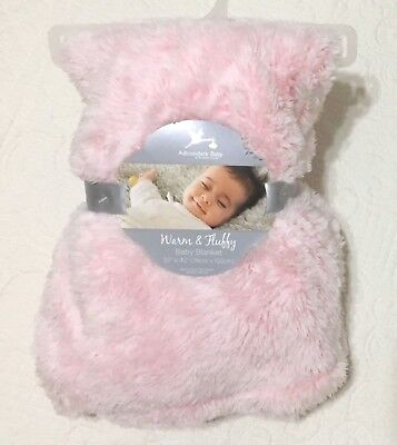 "Adirondack Baby Infant Blanket Warm & Fluffy Soft Blanket Light Pink 30""x40"""