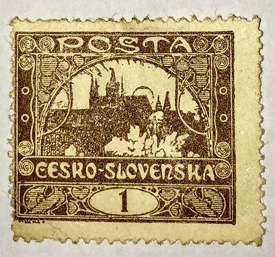 Antique Very Rare Collectible Czech Republic Czechoslovakia Postage Stamp