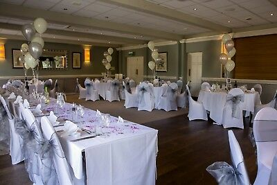 50 x White Chair Covers - Wedding - Used