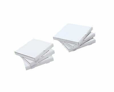 "W PACKAGING WPPB8KWP Plain Pizza Box B-Flute 1 5/8"" Deep 8"" White/Kraft (Pack..."