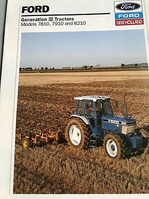 Ford 7810 And 8210 Force lll Tractor Brochure