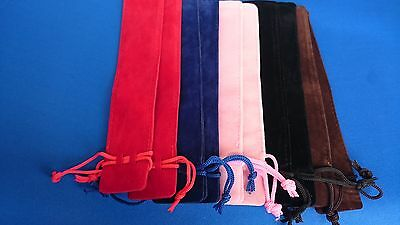 Woodturning Pen Pouches/Drawstring/various colours