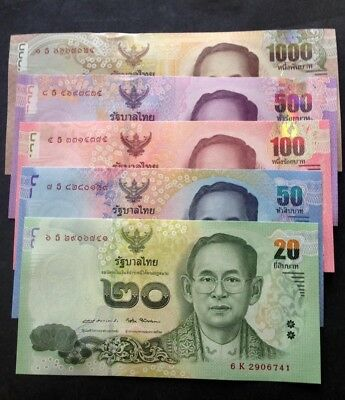 NEW..Today 20/09/2017 Thailand Banknote Set 5 UNC.