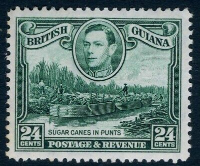 BRITISH GUIANA-1938-52 24c Blue-Green Sg 312 LIGHTLY MOUNTED MINT V18701