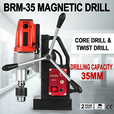 BRM35 Magnetic Drilling Machine Mag Drill 35mm Twist Drills Compact 12000N