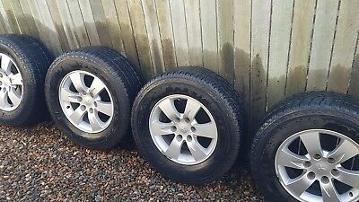 Mitsubishi ml triton factory alloy wheels 17 inch maxis 265/65 r17