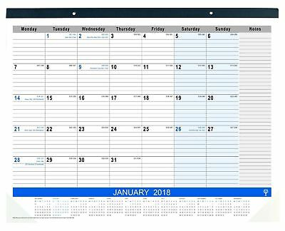 2018 Debden Table Top Planner Month to View Desk Pad 440 x 560mm MTV Planner