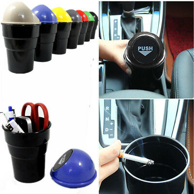 Office Home Auto Car Waste Trash Rubbish Bin Can Garbage Dust Case Holder Uesful