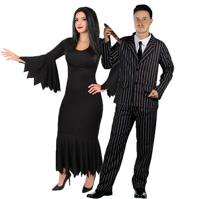 Couples Halloween Gothic Fancy Dress Costumes Mr And Mrs Tv Film Movie Character