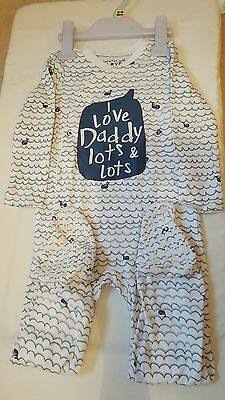 ***I Love Daddy Lots & Lots Sleepsuit, Size 12-18 Months, Brand New With Tags***