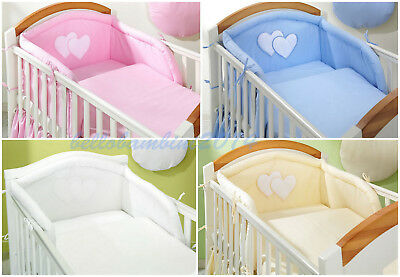 3 pcs BABY BEDDING SET/Bumper/Pilowcase/Duvet Cover  to  fit COT or COT BED