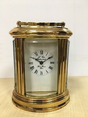 L'Epee Vintage French Miniature Brass Carriage Clock
