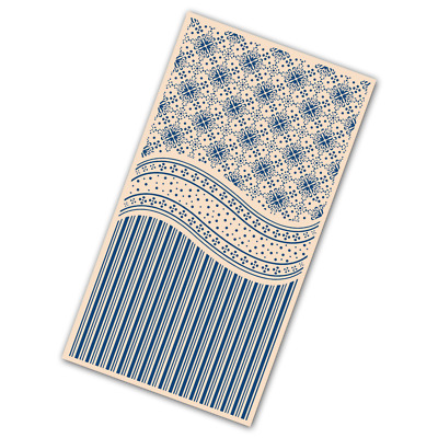 NEW Tattered Lace 'Victorian Dots & Stripes'  Embossing Folder - EF158