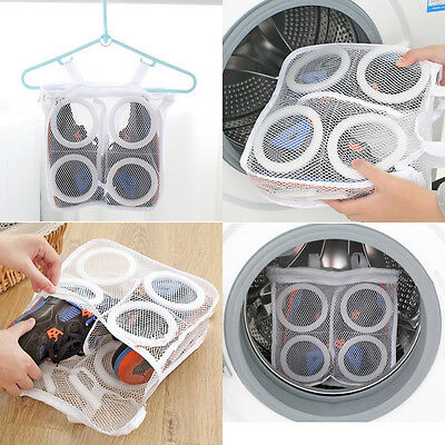 Hot Sport Washing Sneaker Tennis Laundry Net Hanging Wash Bag Shoes Boot Cleaner