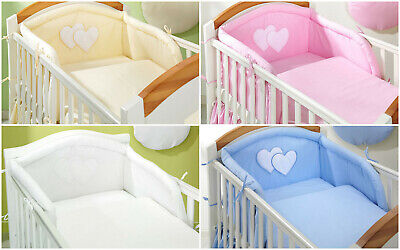 4 pcs BABY BEDDING SET/Bumper/Pilowcase/Duvet Cover  to  fit COT or COT BED