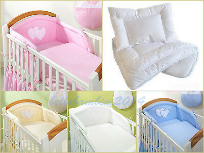 6 pcs BABY BEDDING SET/Bumper/Pilowcase/DuvetCover/DuvetiSheet 4 COT or COT BED