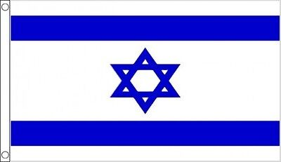 ISRAEL FLAG 5' x 3' Israeli Flags Star of David