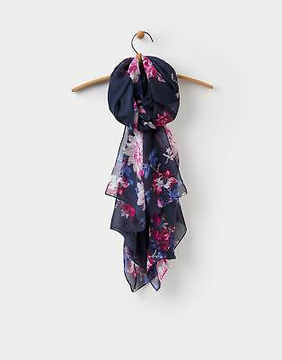 Joules 124509 Womens Wensley Scarf in Navy in One Size