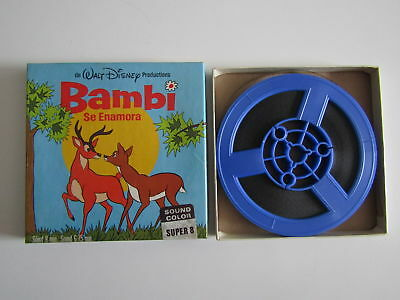 pelicula de Super 8 Color Disney Bambi se enamora