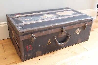 FRENCH Antique Steamer Cabin Travel Trunk LA VOLAILLE PARIS c1890 / Early 1900s