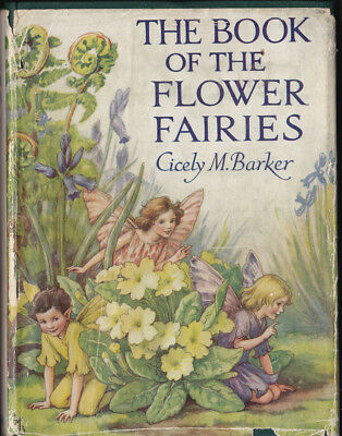 Cicely Mary Barker THE BOOK OF FLOWER FAIRIES Vintage Ed 72 Colour Plates Rare