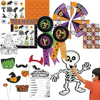 Halloween Games Activities Childrens Family Friendly Bingo Photo Props Colouring