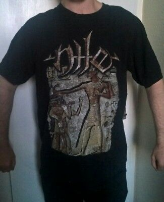 "Nile ""Slaughterers of Apep"" Egypt tech death metal band T-shirt (Medium)"