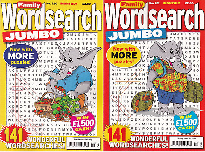 Wordsearch Book -  2 Book Set - 282 Puzzles - New - Set 138