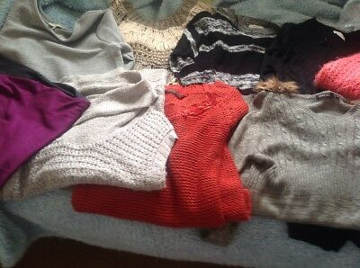 Bundle of ladies Long Length jumpers Apricot papaya etc size 14-16