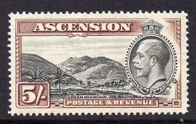 Ascension 5/- Stamp c1934 Mounted Mint SG30 (Cat £55)
