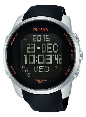 PNP PQ2049X1 Pulsar Gents Digital Chronograph Rubber Strap Watch