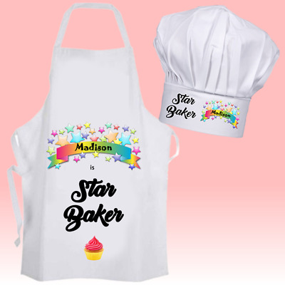 Personalised Star Baker Cooking Baking Apron Adult Kids Christmas Birthday Gift.