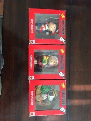 Kurt S, Adler, Peanuts Christmas Ornaments! Snoopy Lucy Charlie Brown! Free Ship