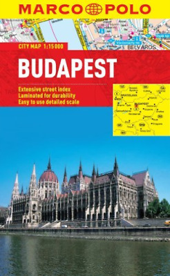 Budapest Marco Polo City Map  Book New
