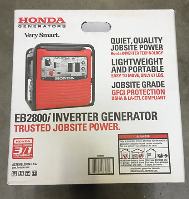 Honda Power Equipment EB2800i 120V Inverter Portable Gas Generator 2800W