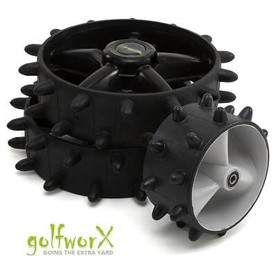 New Fairway Hoppa Motocaddy Hedgehog Winter Wheels (Complete 3-Wheel Kit)