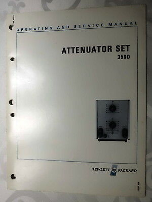 Manual HP Hewlett Packard Model 350D Attenuator Set Operating and Service Manual