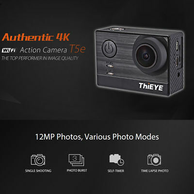 ThiEYE T5e 2 inch TFT LCD Screen Time-Lapse WiFi 4K 30fps 12MP Action Camera