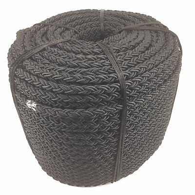 10mm 8 Support Nylon Noir Câble x 15MTS, ancre amarrage multiplait octoplait