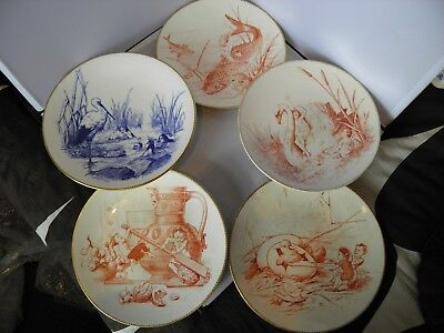 Set of William Brownfield Charming Fairyland Scenes 3 Plate & 2 Compotes c1880's