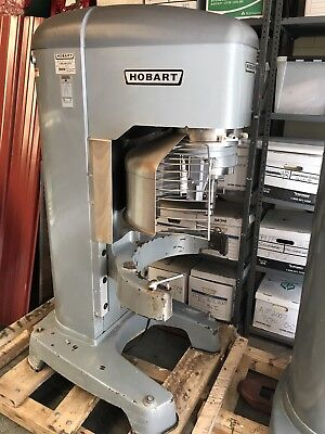 Hobart HL1400 140 Qt Legacy Planetary Mixer+Accessories great shape 3 phase 5HP