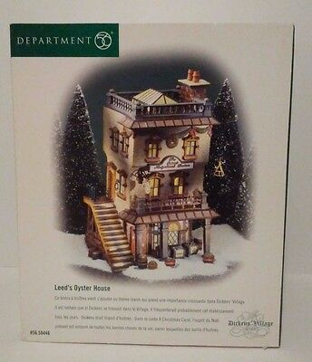 Dept 56 Leed's Oyster House Dickens' Village